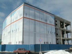 Монтаж 2400 кв. м. баннеров