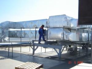 Окожушивание систем вентиляции и кондиционирования ТК «Радуга»